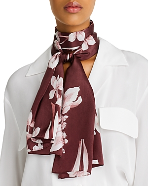 Echo Accessories FLORAL PAINTING SILK SCARF