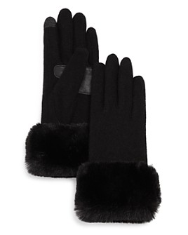 Echo - Faux-Fur Cuff Tech Gloves - 100% Exclusive