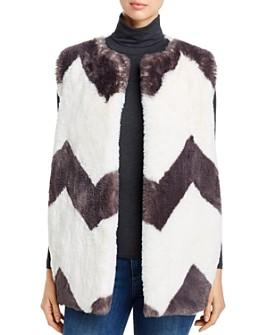 Capote - Chevron Faux-Fur Vest