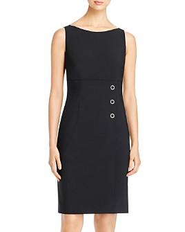 BOSS - Daciana Hardware-Embellished Sheath Dress
