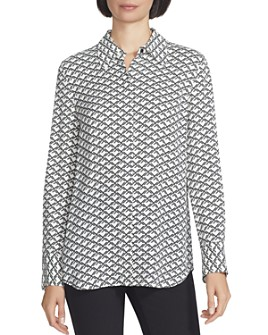 Lafayette 148 New York - Julianne Printed Button-Front Blouse