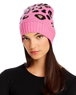 AQUA - Leopard Cashmere Hat - 100% Exclusive