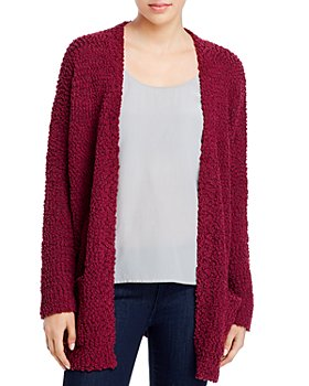 Cupio - Textured Knit Open-Front Cardigan