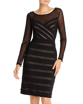 Adrianna Papell - Illusion Banded Sheath Dress