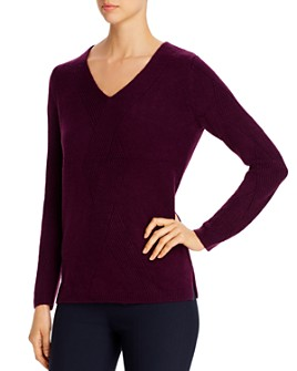 Calvin Klein - Geo-Stitched V-Neck Sweater