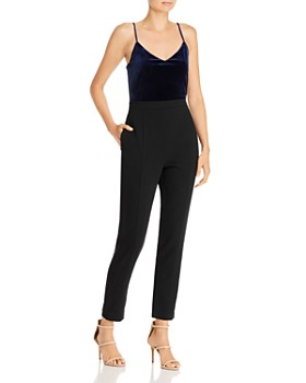 Black Halo - Teagun Velvet Combo Jumpsuit