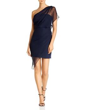 Cushnie - One-Shoulder Draped Chiffon Silk Mini Dress