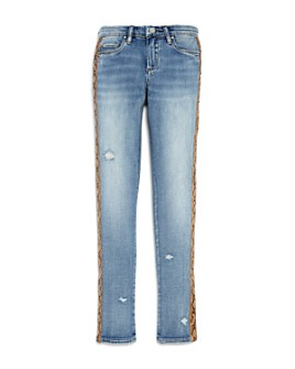 BLANKNYC - Girls' Snakeskin Trim Skinny Jeans - Big Kid