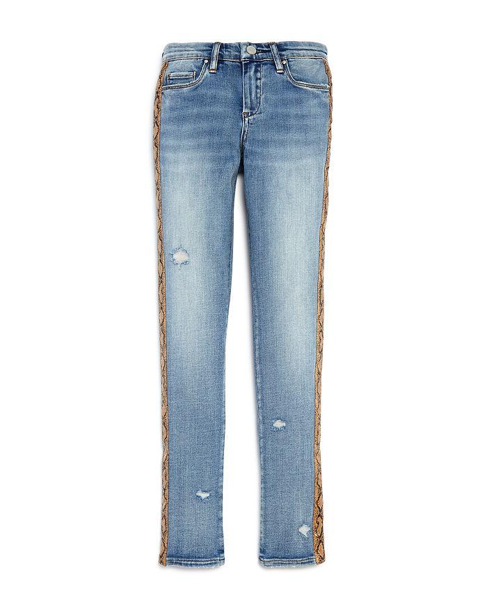 BLANKNYC - Girls' Snakeskin Trim Skinny Jeans - Big Kid