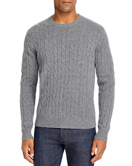 Brooks Brothers - Cable Knit Wool Crewneck Sweater