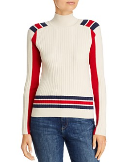 rag & bone - Julee Striped & Color-Blocked Ribbed Sweater