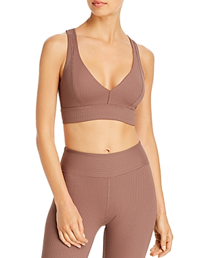Year Of Ours YEARS OF OURS VICTORIA RIBBED CUTOUT SPORTS BRA