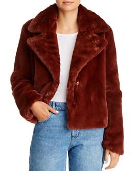 FRAME - Oversized-Lapel Faux-Fur Jacket
