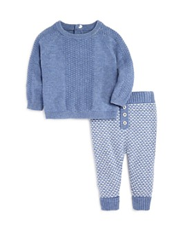 Miniclasix - Boys' Textured Sweater & Geometric Knit Pants - Baby