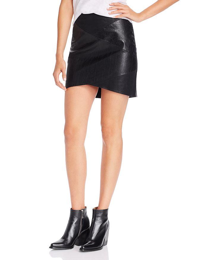 BLANKNYC - Paneled Faux-Leather Mini Skirt