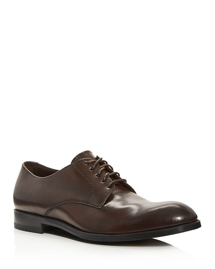 Ermenegildo Zegna - Men's Siena Flex Leather Derby Oxfords
