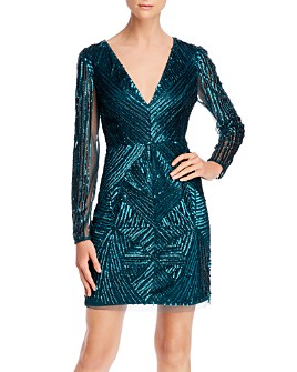 Aidan by Aidan Mattox - Embellished Cocktail Dress - 100% Exclusive