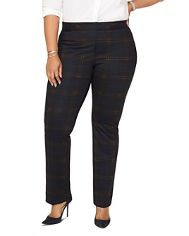 NYDJ Plus - Plaid Slim-Leg Pants