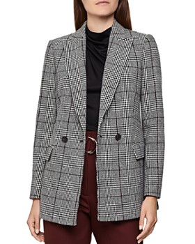 REISS - Tanna Wool-Blend Plaid Blazer