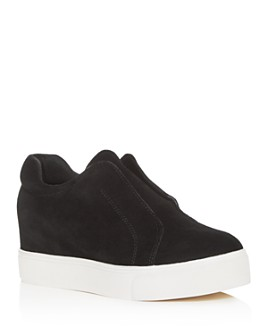 J/Slides - Women's Starr Slip-On Platform Wedge Sneakers