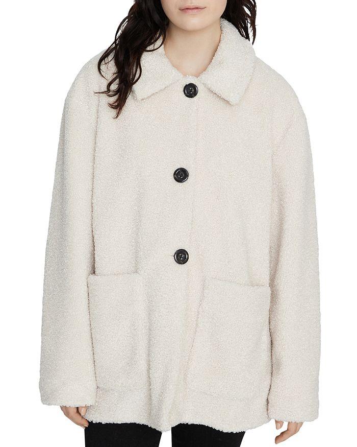 Sanctuary - Sherpa Button-Front Jacket - 100% Exclusive