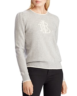 Ralph Lauren - Washable Cashmere Monogram Sweater - 100% Exclusive