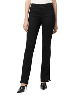 Sanctuary - Side-Slit Bootcut Jeans in Jet
