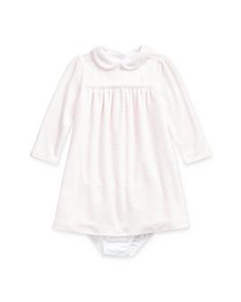 Ralph Lauren - Girls' Striped Velour Dress & Bloomers Set - Baby