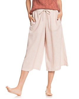 Roxy - Drifting Along Cropped Wide-Leg Pants