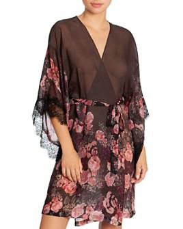 Midnight Bakery - Rose Noir Chiffon Wrap Robe