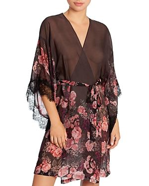 Midnight Bakery Rose Noir Chiffon Wrap Robe