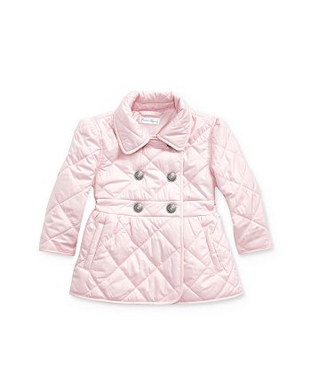 Ralph Lauren - Girls' Quilted Double-Breasted Jacket - Baby