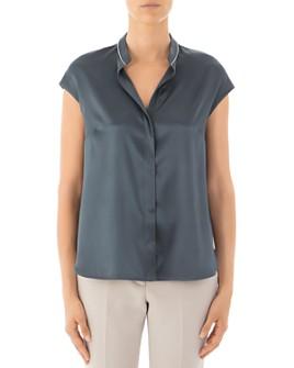 Peserico - Cap-Sleeve Silk-Blend Top