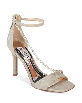 Badgley Mischka - Women's Erika Crystal-Embellished High-Heel Sandals
