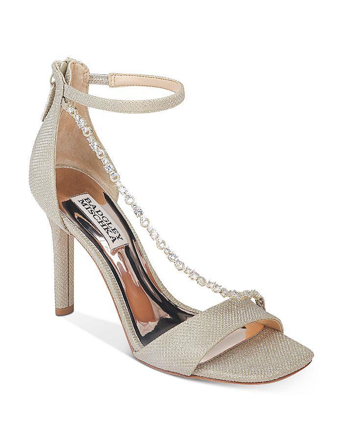 Badgley Mischka - Women's Erika Crystal-Embellished High-Heel Sandals