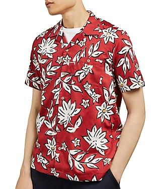 Ted Baker T-shirts GREG REVERE FLORAL REGULAR FIT SHIRT