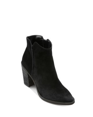 Seyon Stacked Heel Ankle Booties