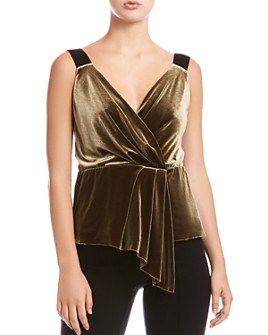 Bailey 44 - Mabel Draped Velvet Top