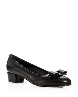 Salvatore Ferragamo - Women's Vara Bow Block-Heel Pumps