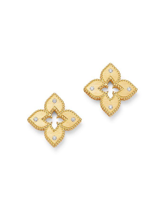 Roberto Coin - 18K Yellow Gold Petite Venetian Diamond Stud Earrings