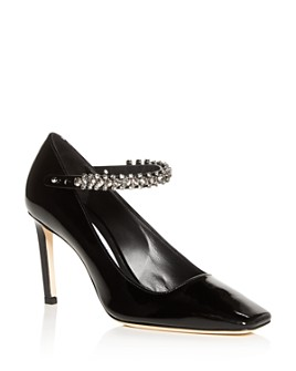 Jimmy Choo - Women's Malva 85 Square-Toe High-Heel Pumps