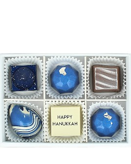 Maggie Louise Confections - Luminous Hanukkah Chocolate Box