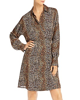 Equipment - Harmon Animal Print Wrap Dress