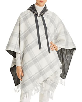 Herno - Quilted-Detail Plaid Cape - 100% Exclusive