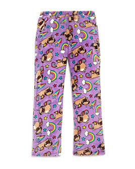 Candy Pink - Girls' Pugicorn Pajama Pants - Little Kid, Big Kid