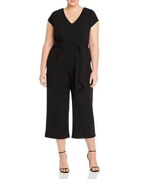 AQUA Curve - Belted Wide-Leg Jumpsuit - 100% Exclusive