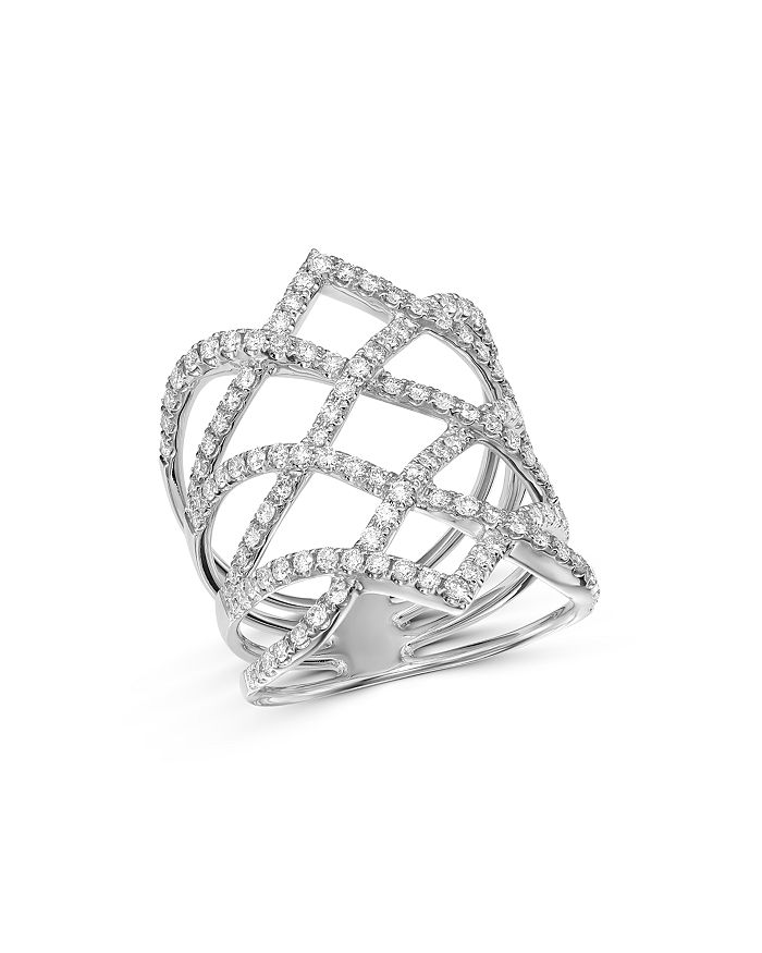Bloomingdale's - Diamond Statement Ring in 14K White Gold, 1.15 ct. t.w. - 100% Exclusive