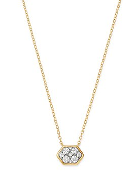 Bloomingdale's - Cluster Diamond Hexagon Pendant Necklace in 14K Yellow Gold, 0.50 ct. t.w. - 100% Exclusive