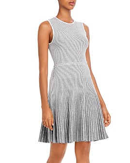 Theory - Ribbed Fit and Flare Dress