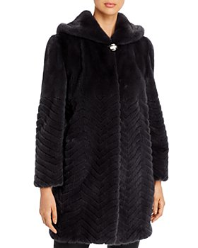 Maximilian Furs - Chevron Mink Fur Coat - 100% Exclusive
